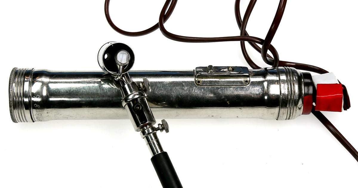 Otoskop, batteridrevet, til undersøkelse av øre
