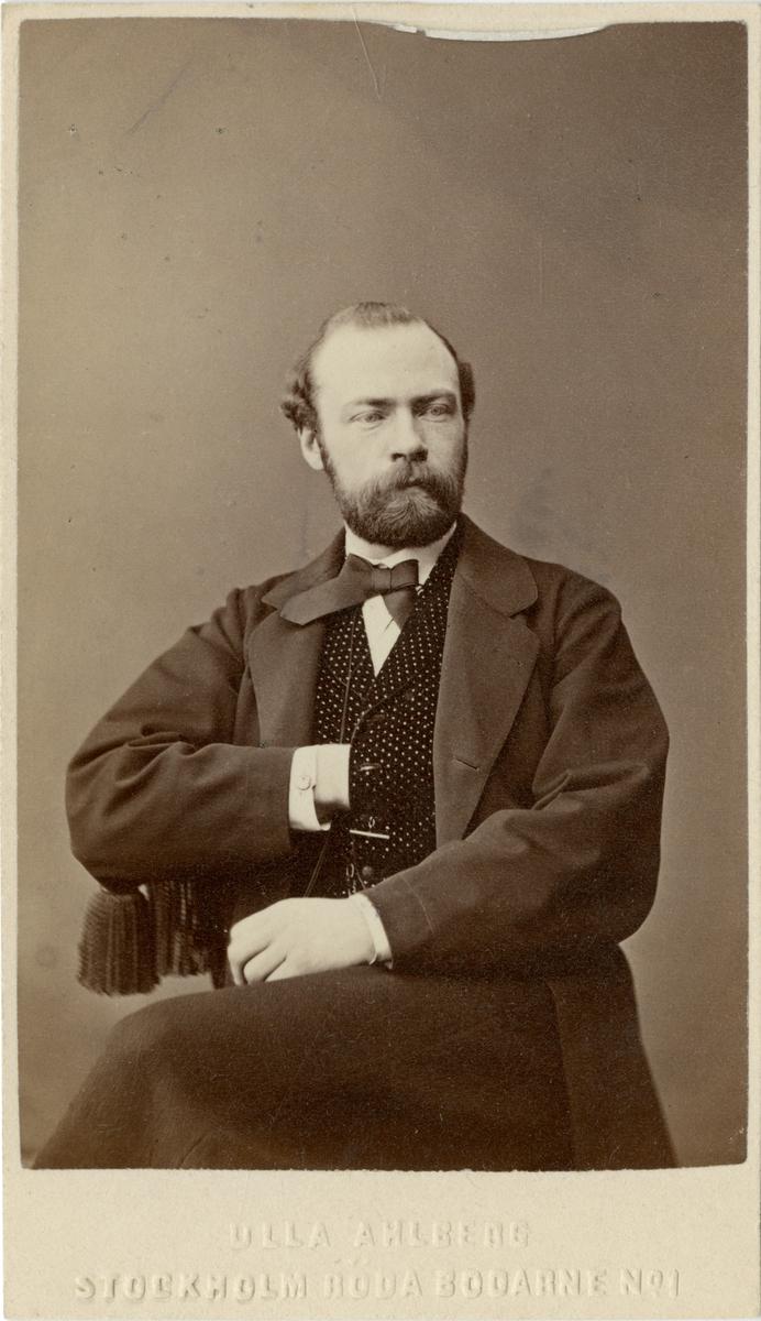Porträtt av Carl Gustaf Henrik Wettergren, löjtnant vid Dalregementet I 13.