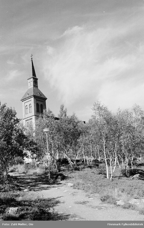 Utsjok-tur, Finland. Fotografert i august 1969. Utsjok Kirke.