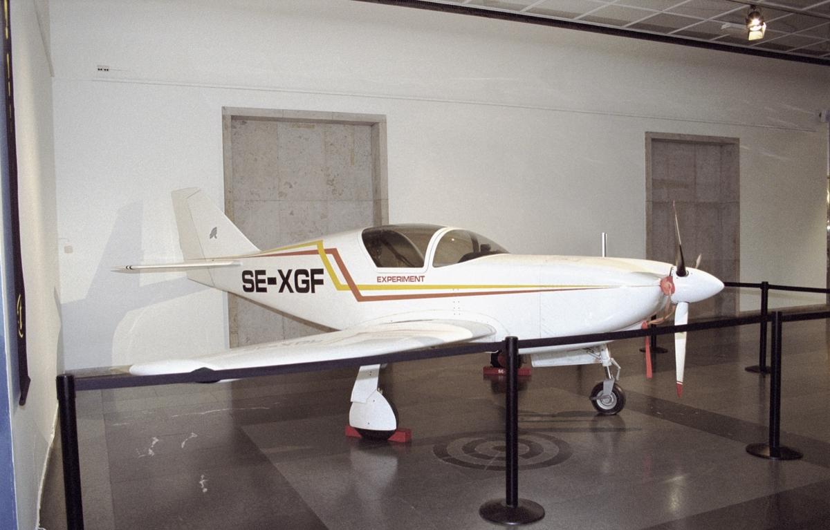 Flygplan Glasair där uppfinnare Håkan Lans navigationssystem finns i. Flygplan för testning av navigationssystem.