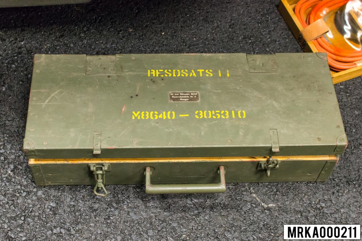 Reservdelslåda 11 40 mm fältapjäs m/48