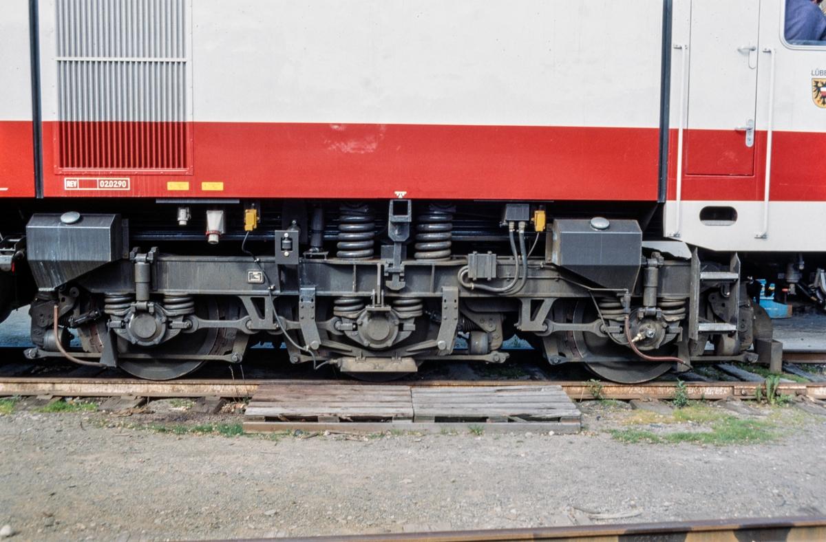 Detalj av MaK DE 1024 240.003-4, et tysk diesellokomotiv som var på prøve hos NSB.