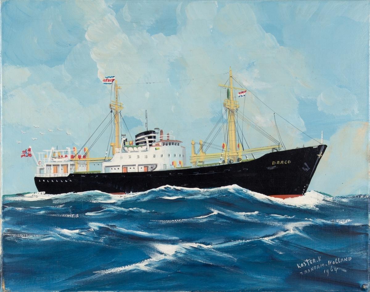 Skipsportrett av MS DRACO unger fart i åpen sjø.