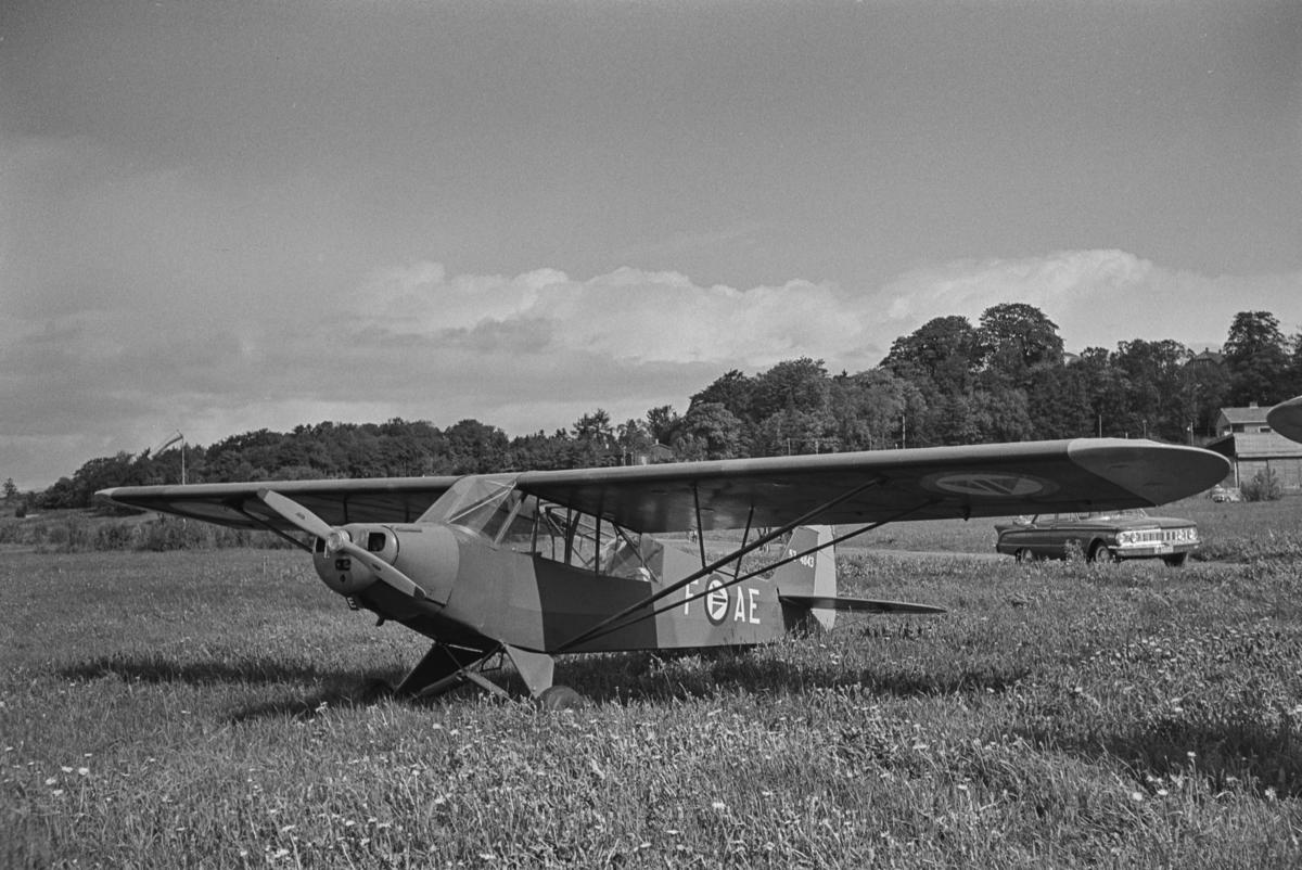 Flystevne på Lade flyplass. Super Cub F-AE