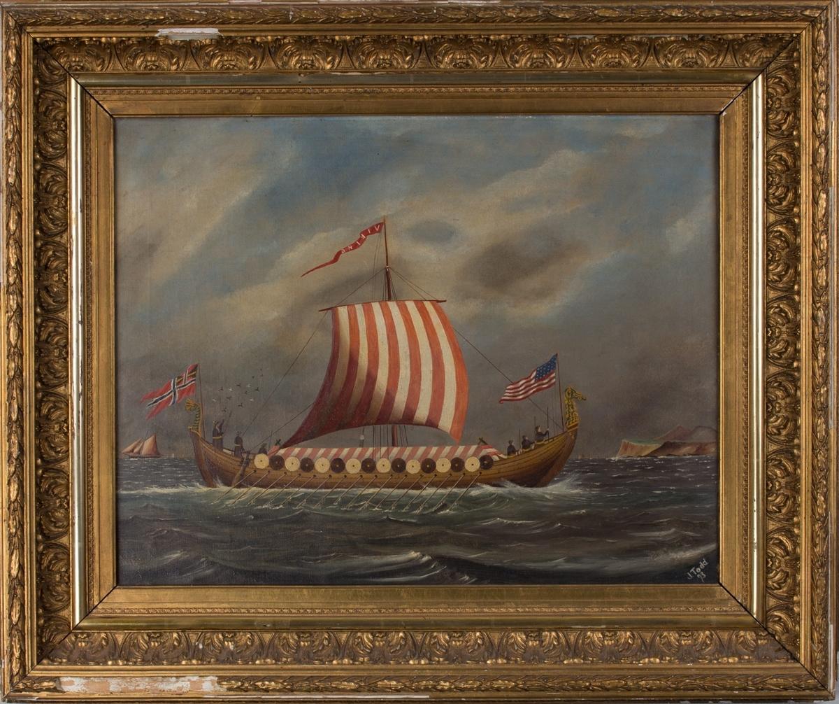 """Skipsbilde av Magnus Andersens """"Viking""""."""