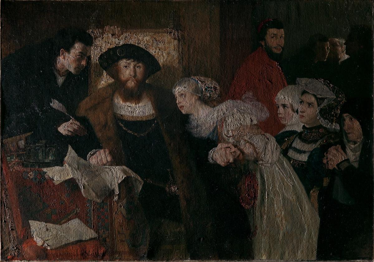 Christian II undertegner dødsdommen over Torben Oxe [Maleri]