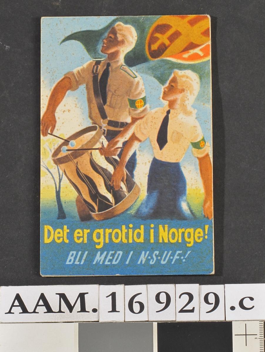 Postkort  fra krigen 1940-45.