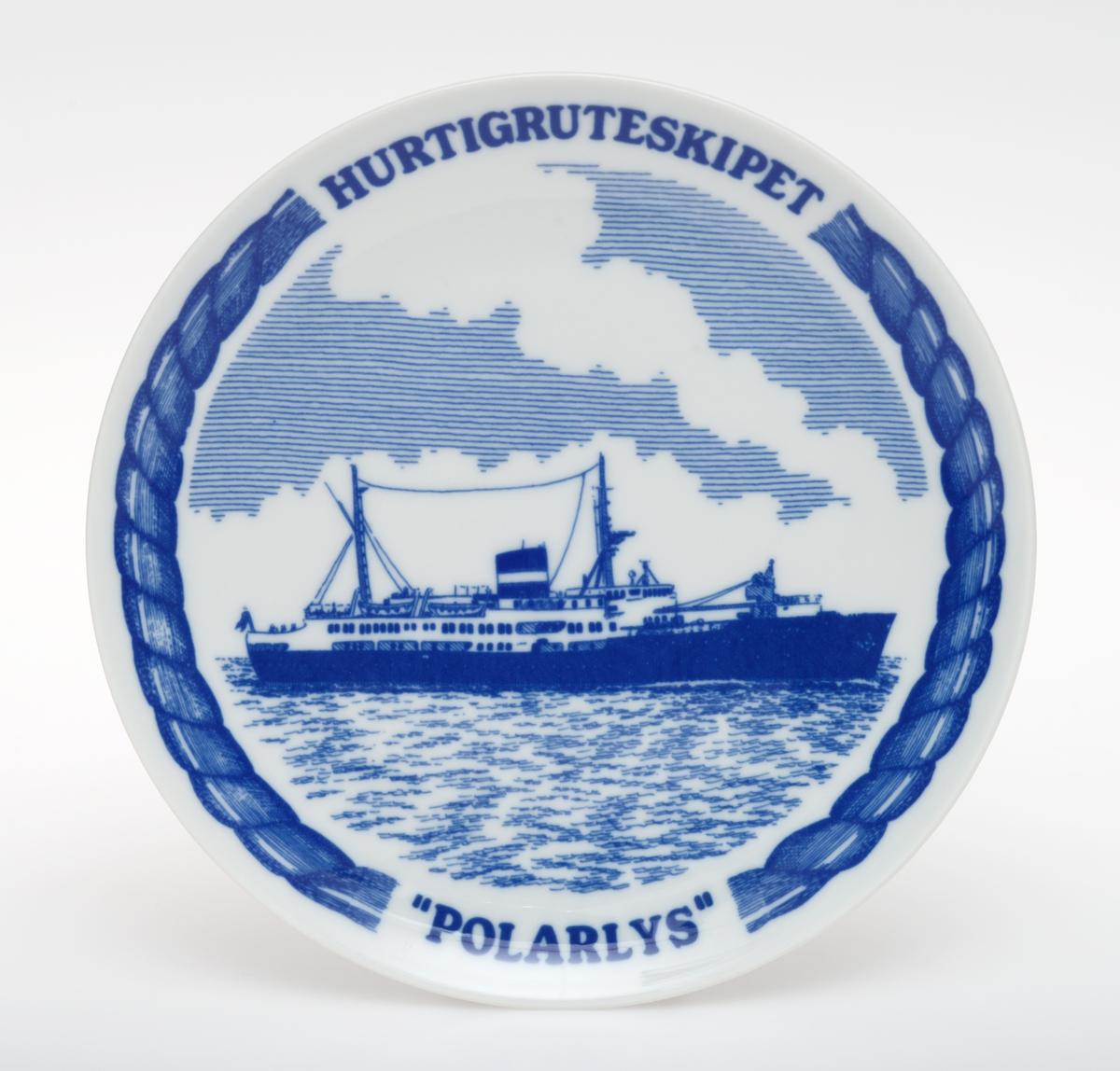 Motiv av Hurtigruten M/S Polarlys.