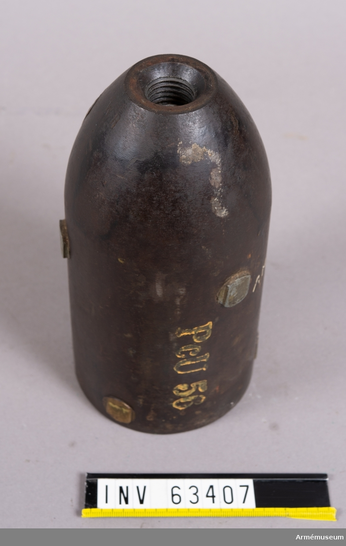 Grupp F II.   Svag, fylld granatkartesch till framladdningskanon.