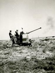 40 mm fältautomatpjäs m/48. Skarpskjutning