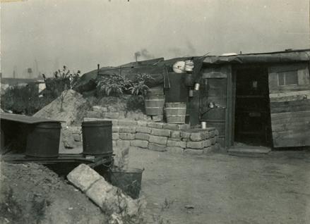 """Boligbrakke i """"Ørken Sur"""", Brooklyn NY, ca 1929-1935."""