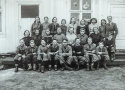 Romedal Fortsettelsesskole ved Perstugua i Vallset 1940-1941