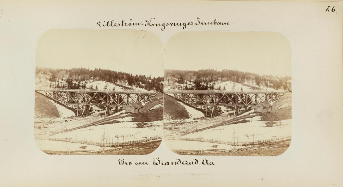 Bro over Branderudåa mellom Årnes og Seterstøa stasjoner