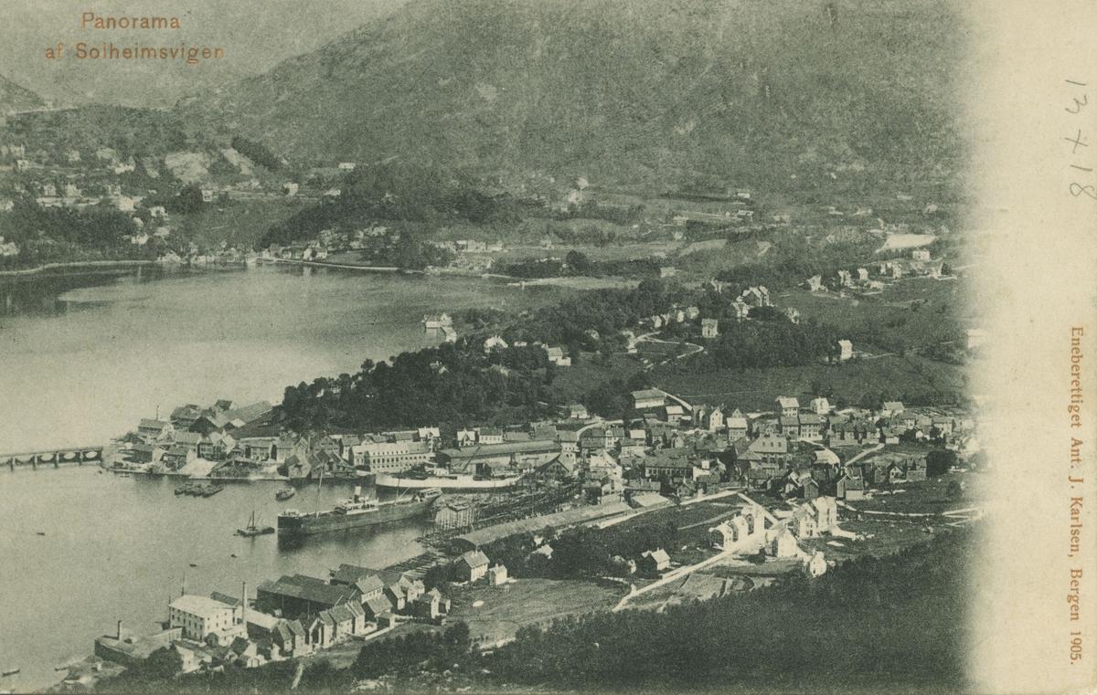 Bergen. Solheimsviken. Utgiver: Ant. J. Karlsen, 1905.