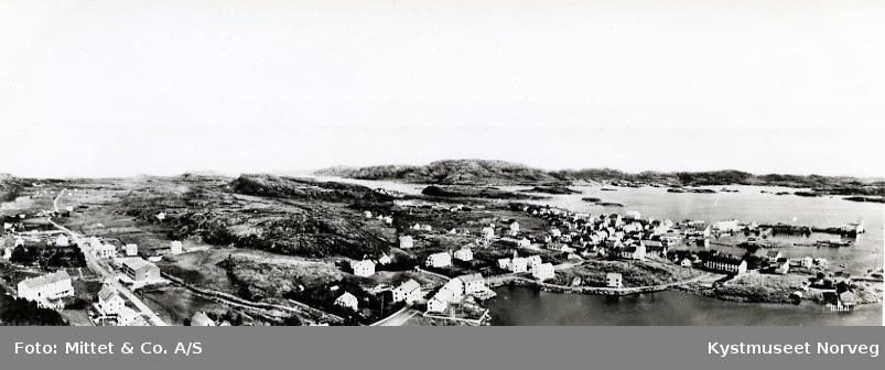Rørvik sentrum sett fra Sør-vest