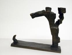 Gestalt i storm [Skulptur]