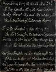 Stemsrud gård. Tekst på tavle 1779 [Maleri]