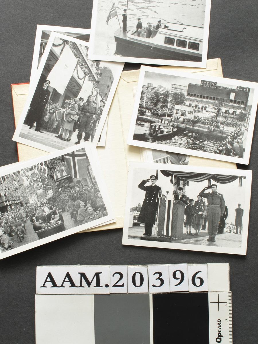 bilder fra kongefamiliens hjemkomst i 1945.