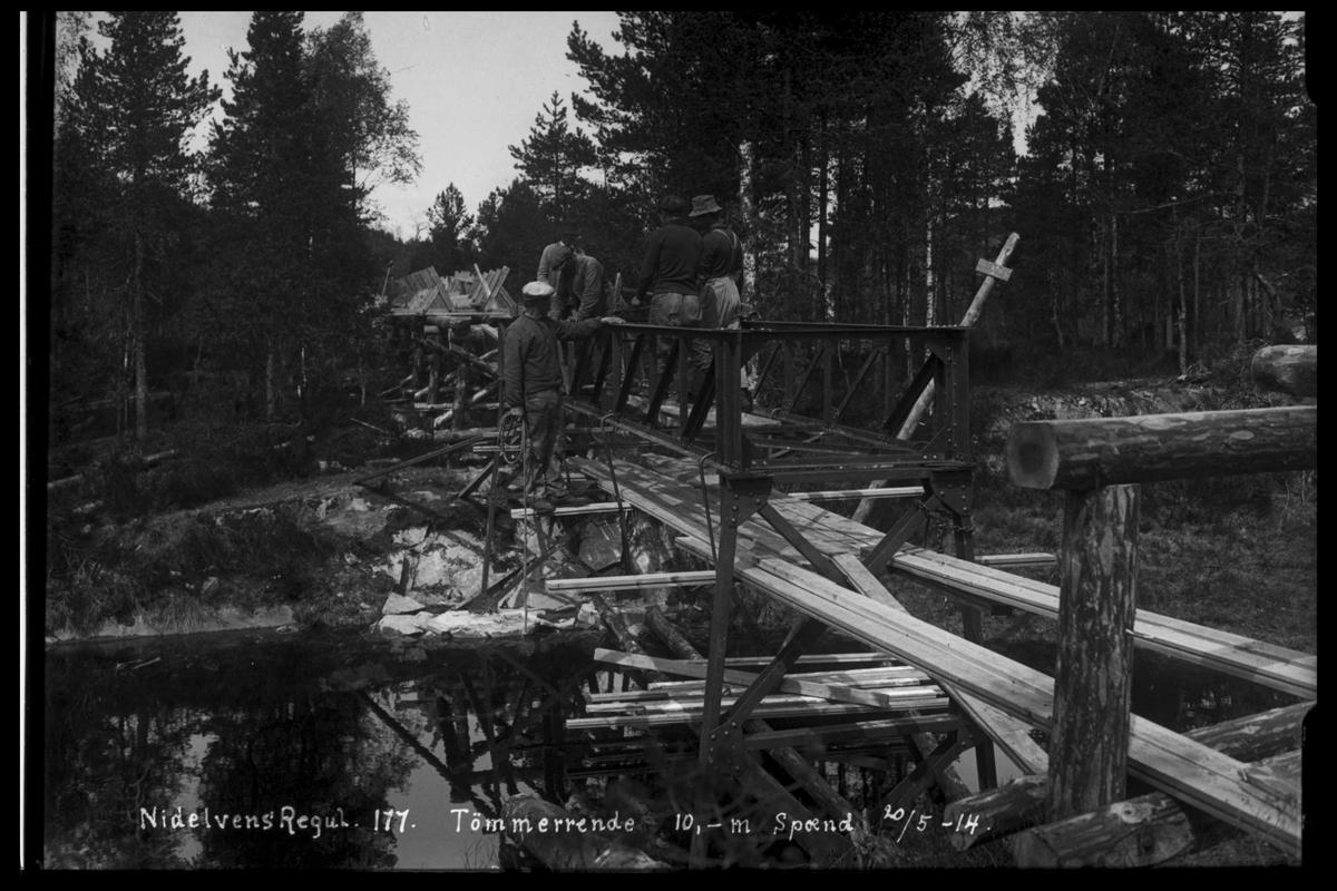 Arendal Fossekompani i begynnelsen av 1900-tallet CD merket 0468, Bilde: 88 Sted: Nidelva Beskrivelse: Regulering