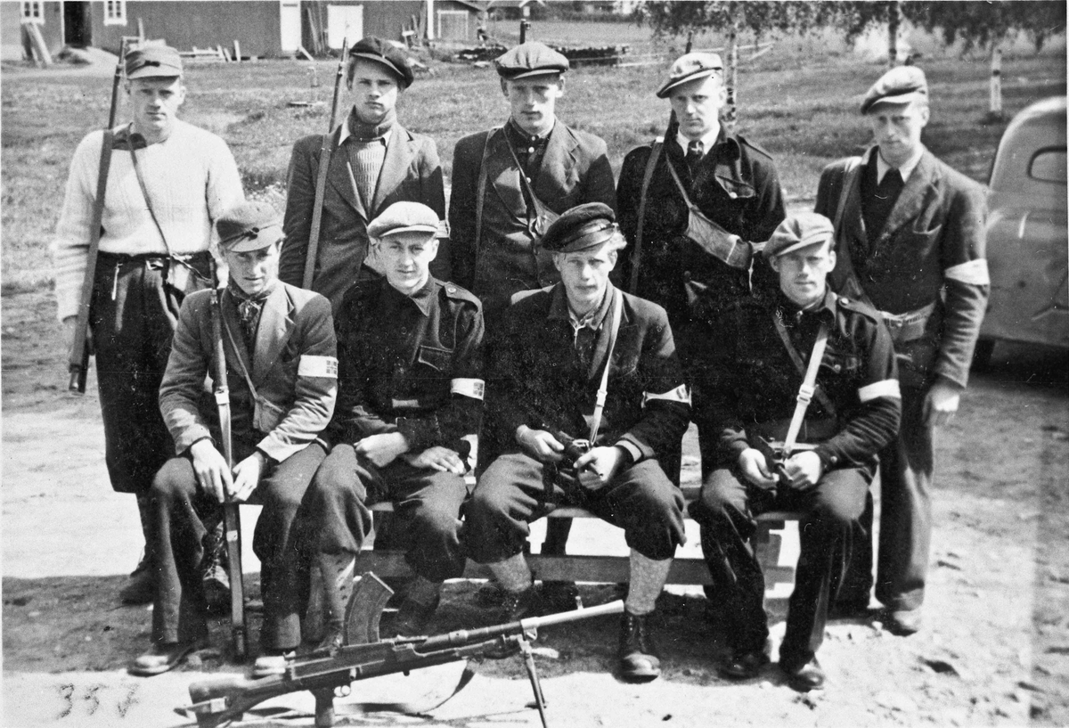 Sommeren 1945. Vaktstyrke.