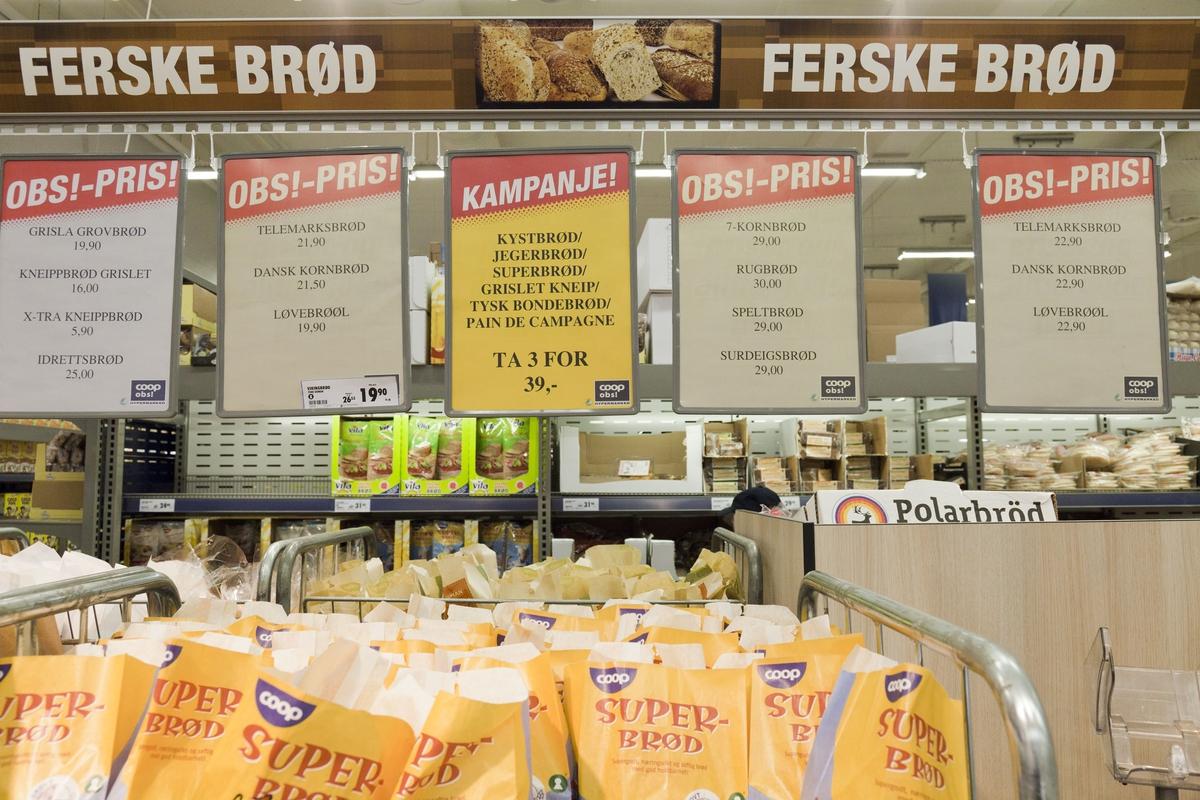 Brødavdelingen på Coop Obs Jesseheim