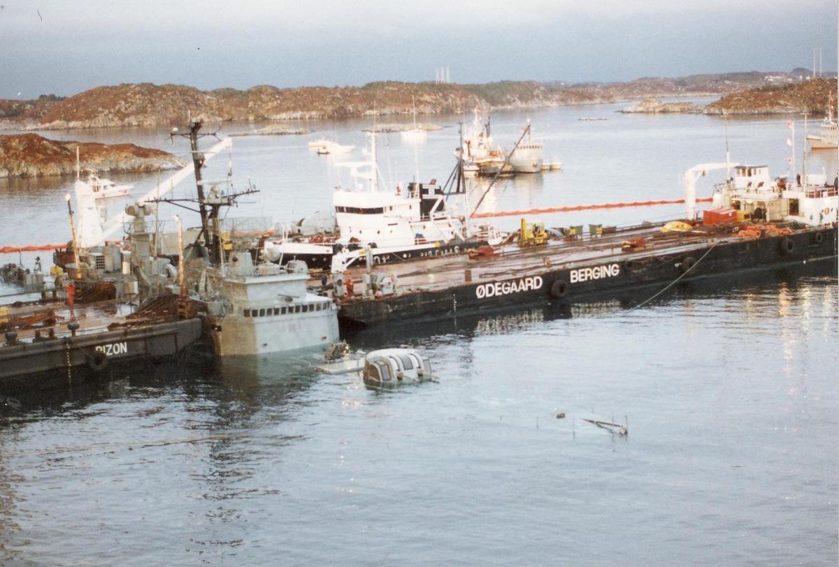 Enkeltbilde. Fregatten KNM Oslo, redning av fartøyet