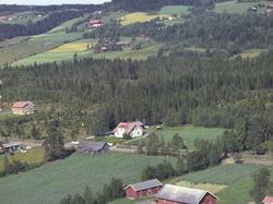 Flyfoto, Lismarka, Ringsaker. Hagelund, G.nr 451.3/45 midt i
