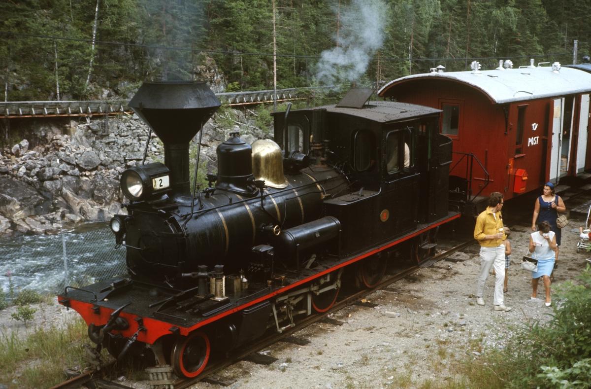 Setesdalsbanens tog har ankommet Beihølen