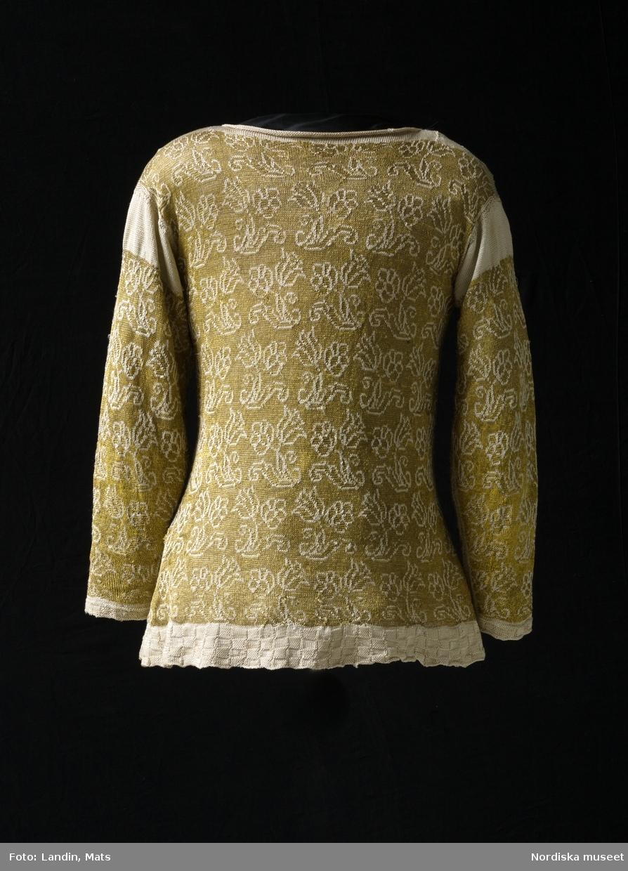 Tröja av gult silke. Silketröja. 1600-tal.  NM  inv.nr 221941
