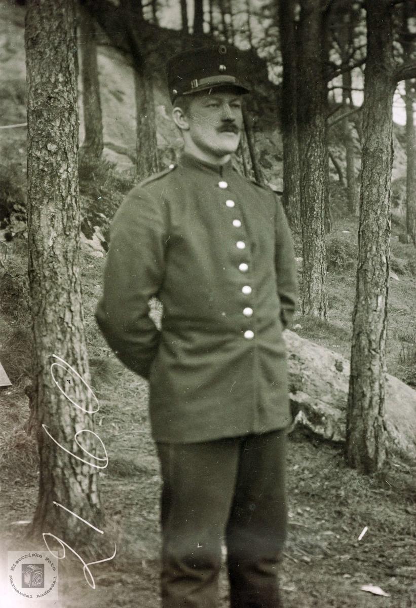 Portrett av Nils Ubostad. Grindheim Audnedal.