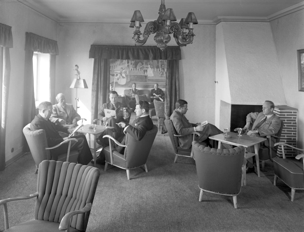 """Grand hotell, Hamar, interiør. """" Interiør klubblokale på Grand Kongelig Norsk Automobilforbund"""""""
