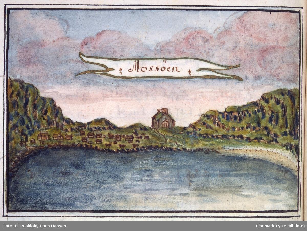 Mossøen. Bebyggelse og kirke på Måsøy