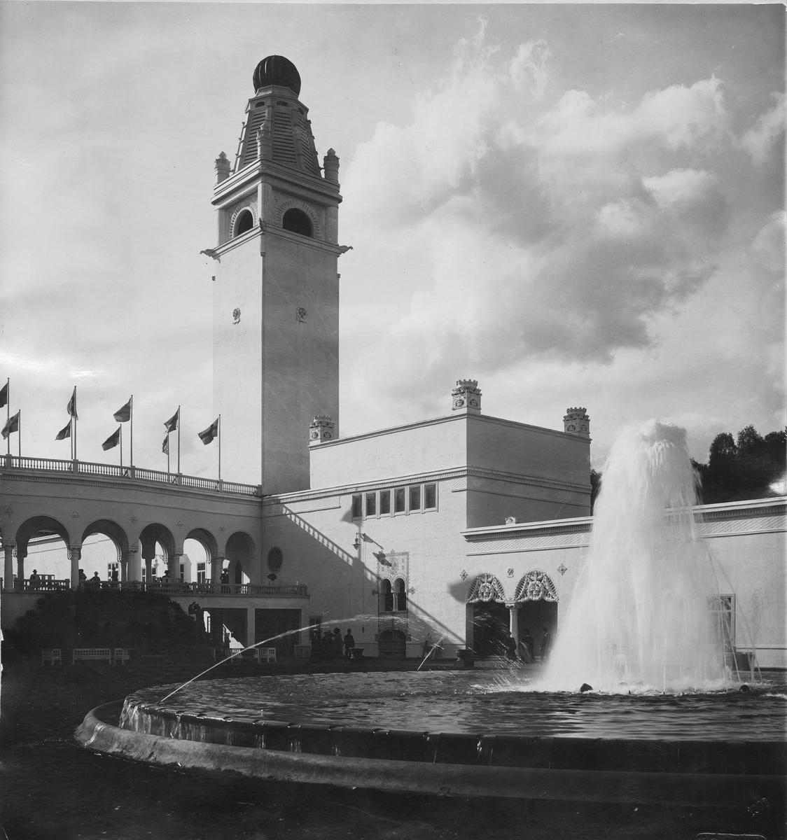 Konstindustriutställningen i Stockholm, 1909. Bild från tidskriften Hemmets bildmaterial.
