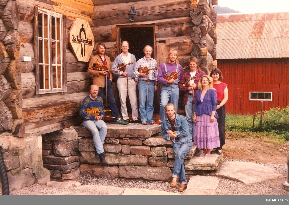Spelkurs på Ose Kulturverkstad i juni 1990.