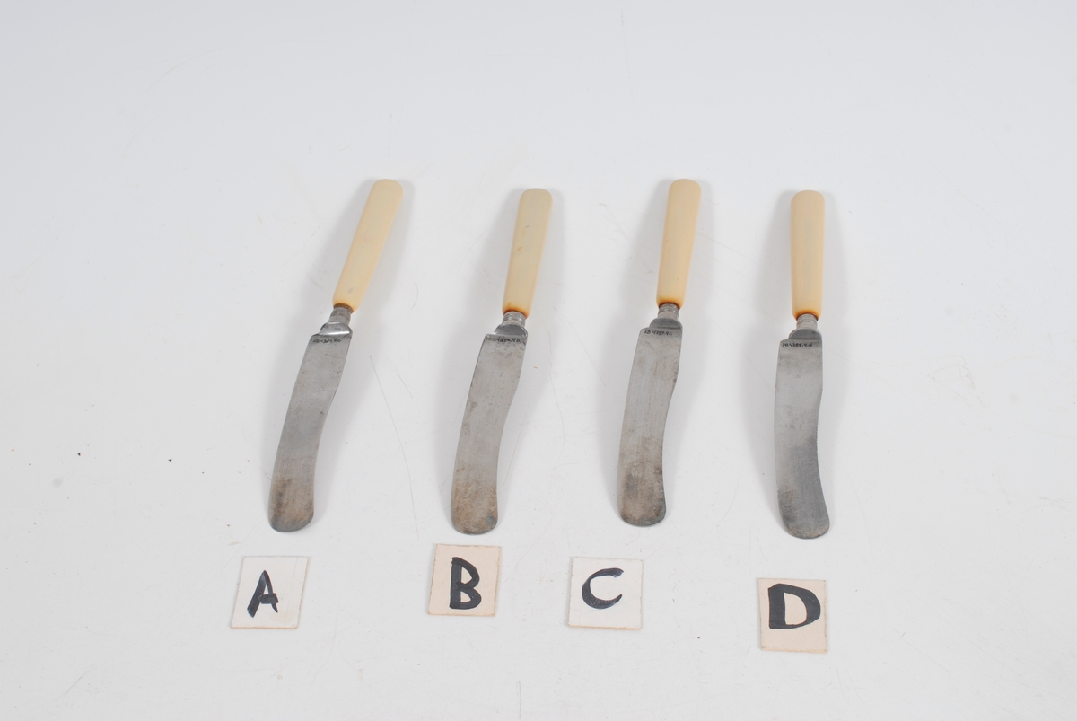 Kniv, 4 stk, del av EB.04389.1-4