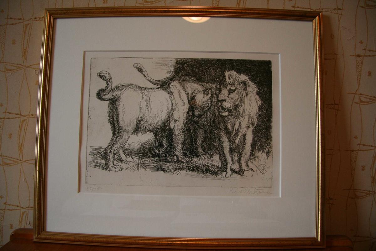 Løver [Radering]