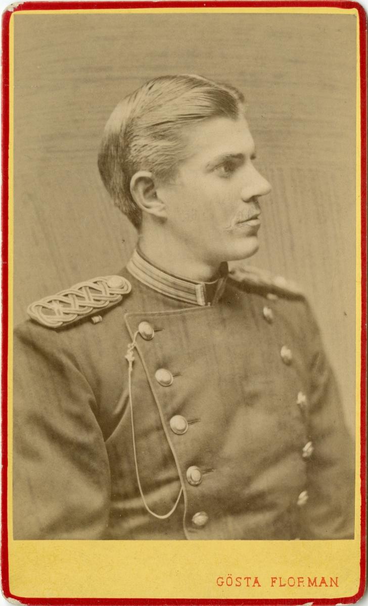 Porträtt av Olaus Laurentius Scherdin, underlöjtnant vid Västerbottens fältjägarekår I XIX.  Se även bild AMA.0009458, AMA.0021738 och AMA.0022085.