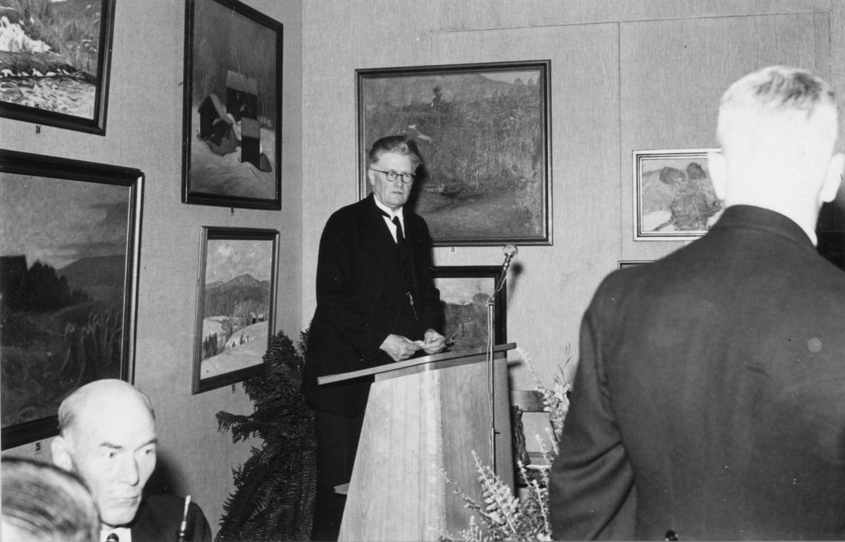 Ett bland många lyckönskningstal vid invigningen av Gävle Museum den 29 september 1940.
