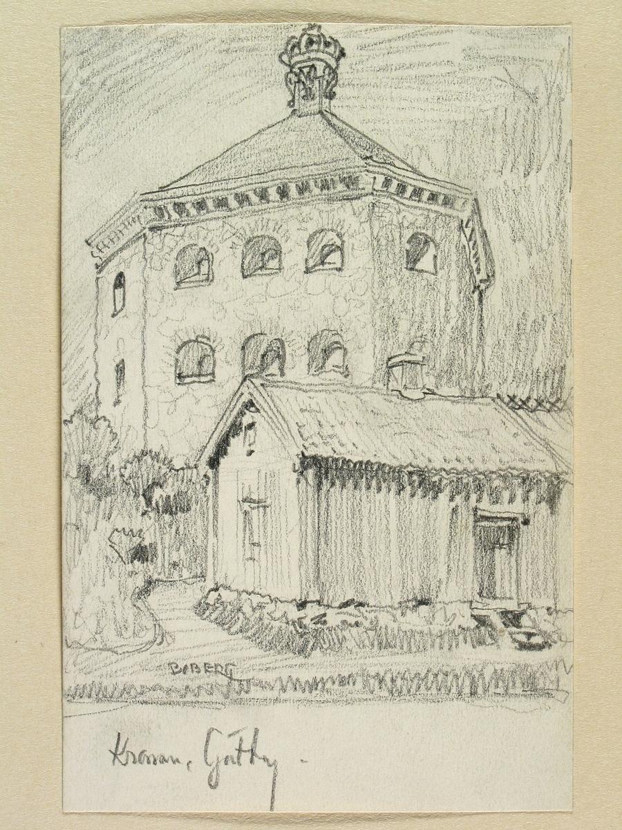 Teckning av Ferdinand Boberg. Göteborg, Skansen Kronan