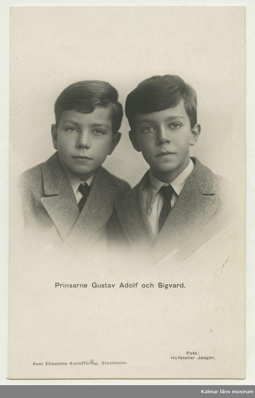 Prinsarna Gustav Adolf och Sigvard.