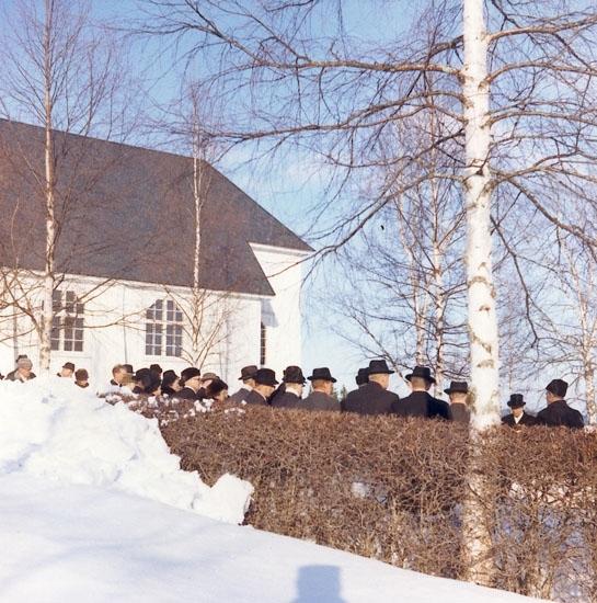 Nittaho-Jussis begravning Nyskoga 27/2 1965.