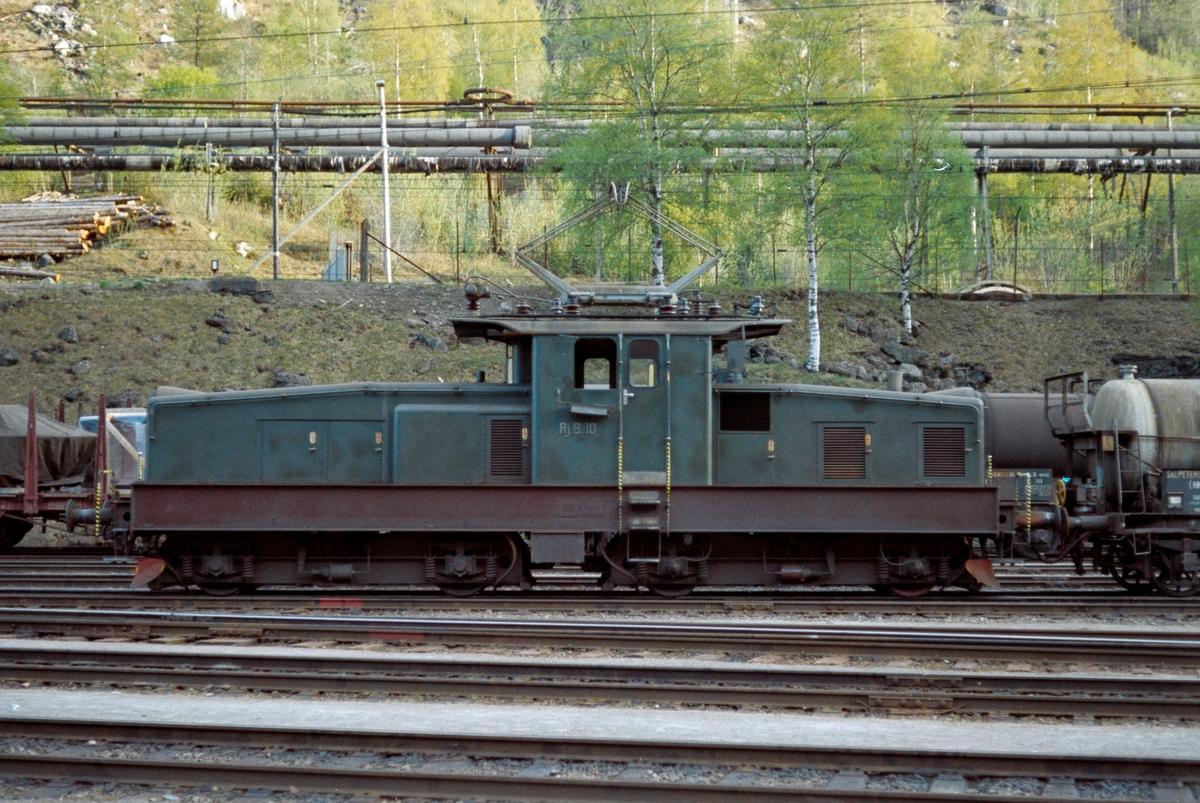 Rjukanbanens lokomotiv nr. 10 på Rjukan stasjon.