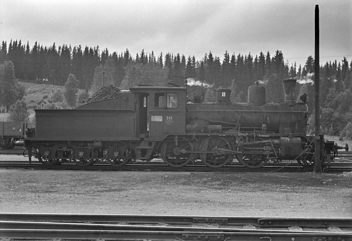 Damplokomotiv type 21b nr. 315 på Eina stasjon.