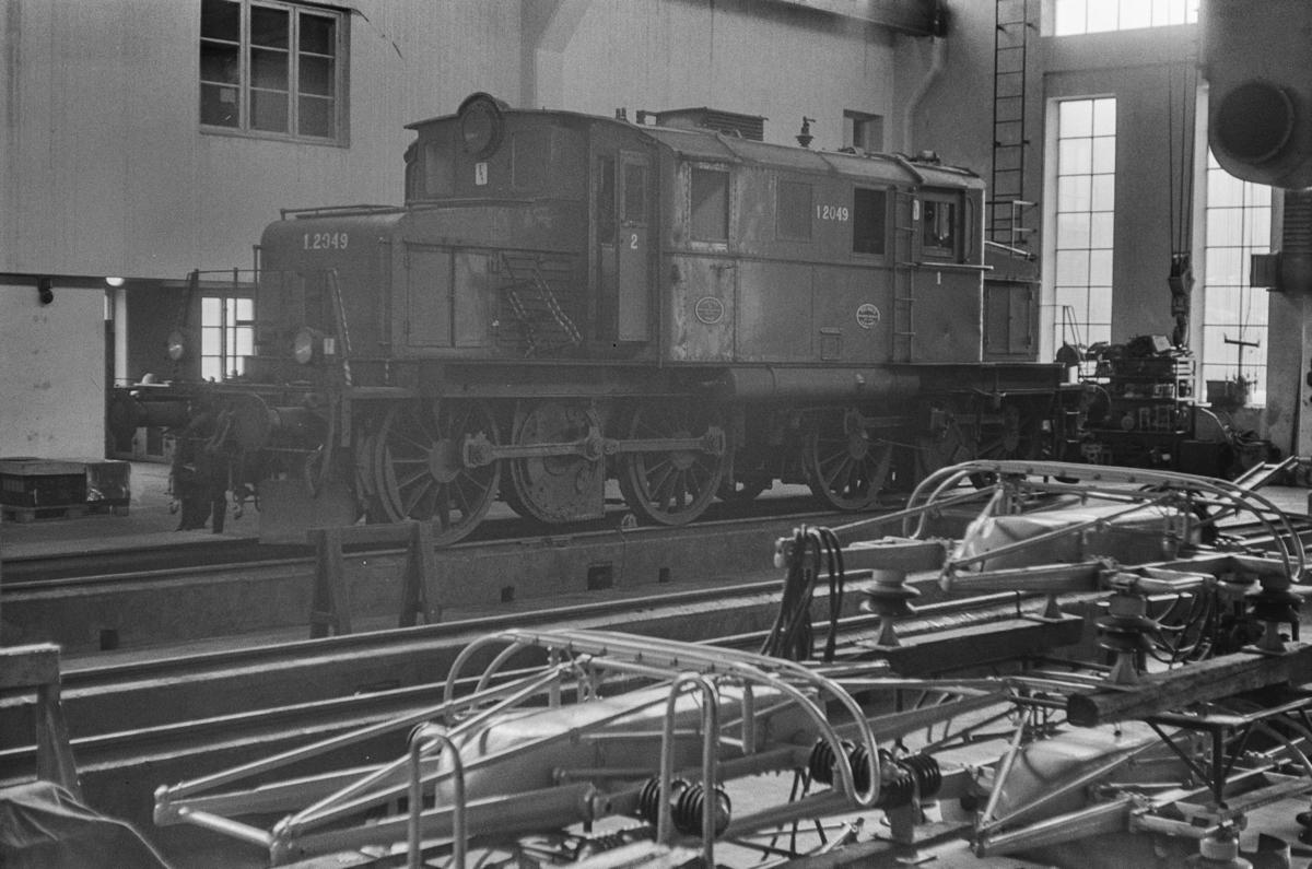 Utrangert elektrisk lokomotiv type El 1 nr. 2049 på Sundland i Drammen.