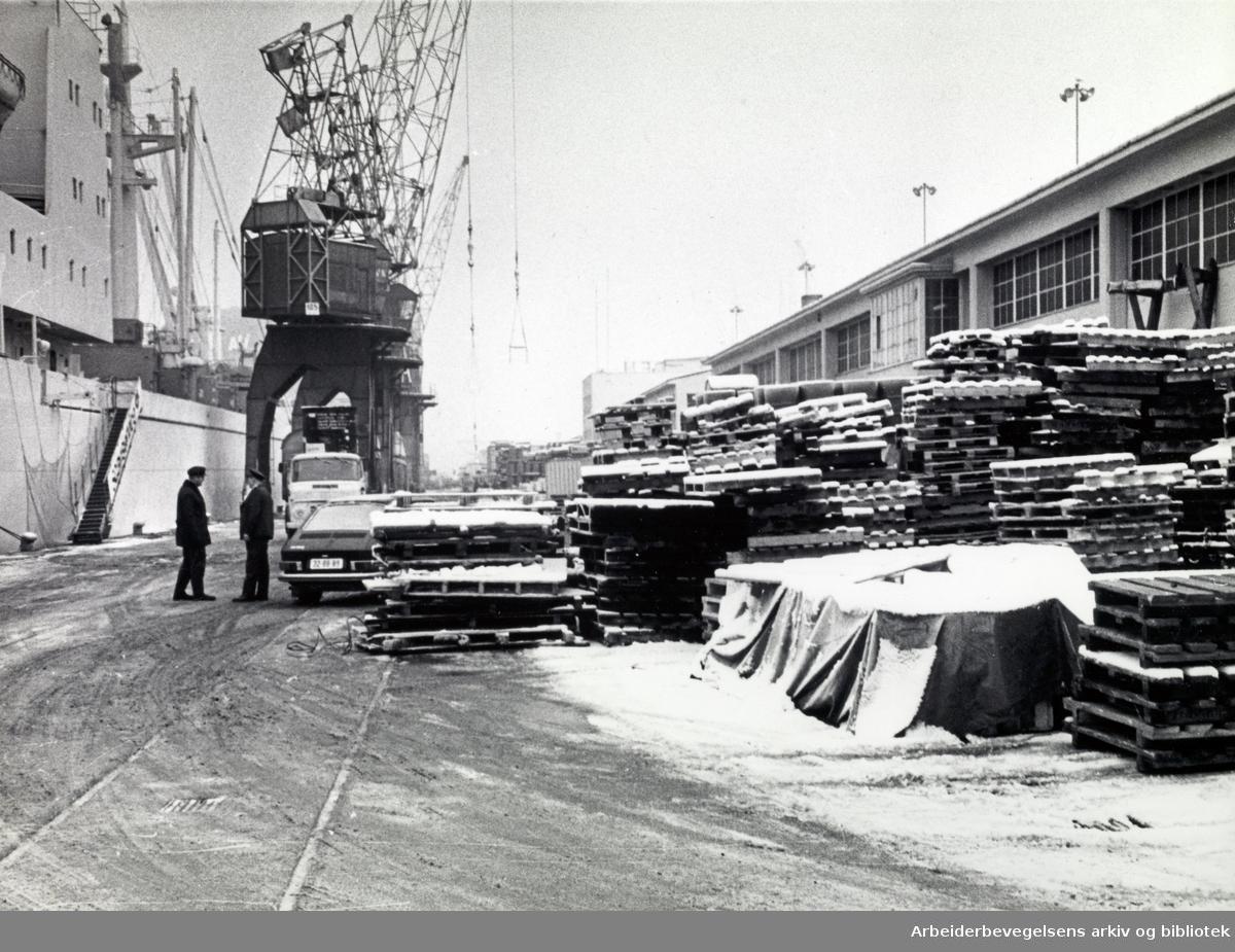 Sørenga i Oslo havn på 1960-tallet.