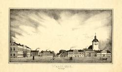 Wexiö 1848. Stor-torget [Litografi]