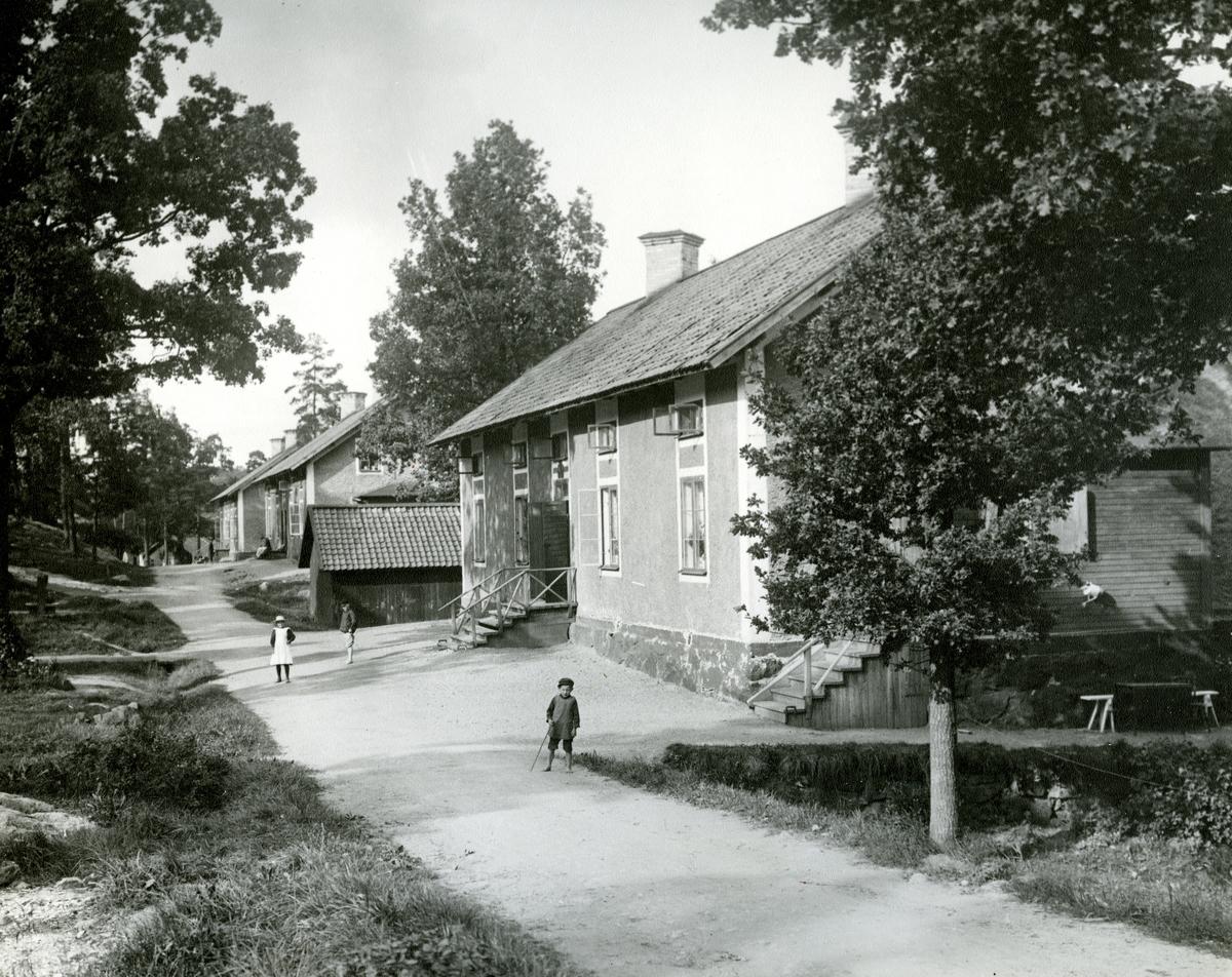 Mässa i kyrkan. Bild från början av 1900-talet. - Nordiska