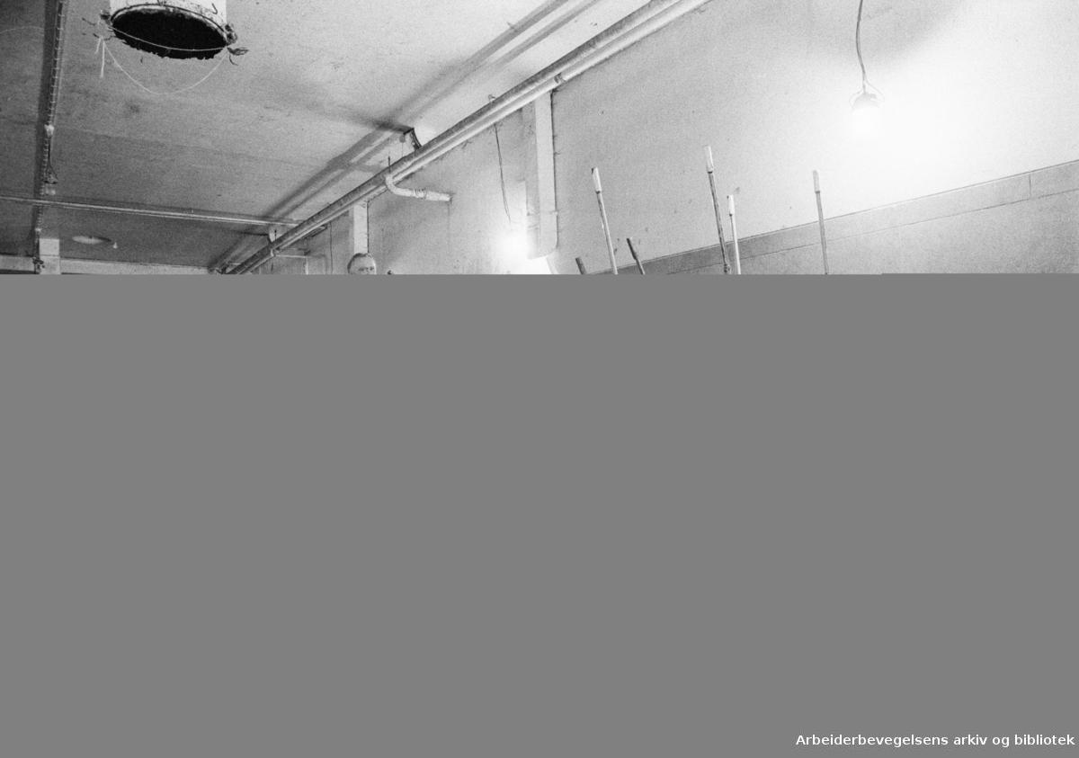 Grønland. Kjøtthallen. Kjøtthallen skal rives. Streiftog med Rolf Forsberg som kjentmann i huset på Grønland..Oktober 1973