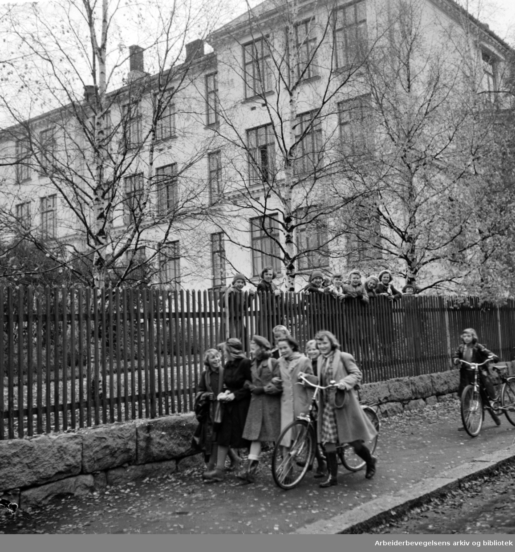 Grorud Skole. Oktober 1950