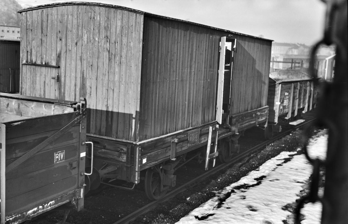 Hensatt godsvogn opprinnelig fra Norsk Hovedjernbane litra N2 nr. 11741 i Lodalen i Oslo.